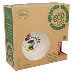 Disney 01285. Set desayuno de bambú. Diseño Minnie Mouse.